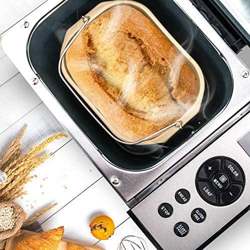 Amazon.com: Secura - Máquina para hacer pan, de acero ...