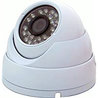 eSecure EST18224W HD-TVI 2MP Outdoor 24 IR Dome Camera, 1080p, Wide Viewing Angle, Home Security Surveillance Dome Camera (white)