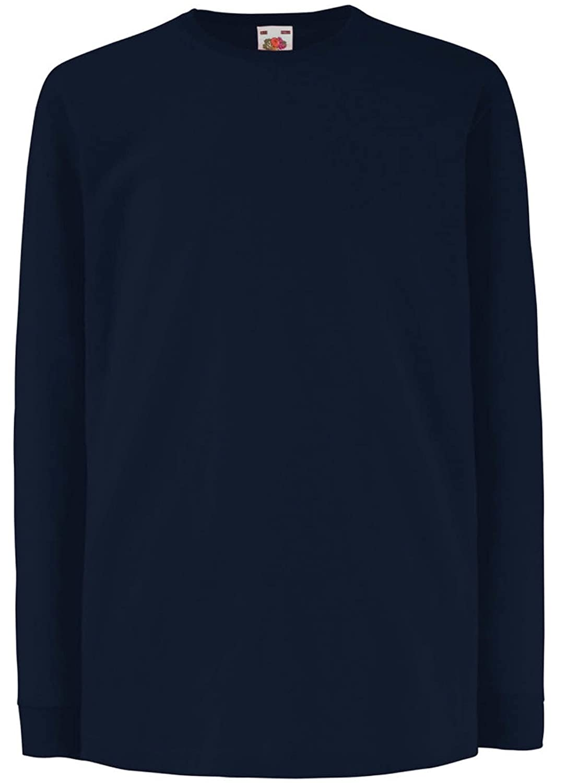 New Fruit Of The Loom Unisex Childrens Valuweight Long Sleeve Crew Neck  Shirts: Amazon.co.uk: Clothing