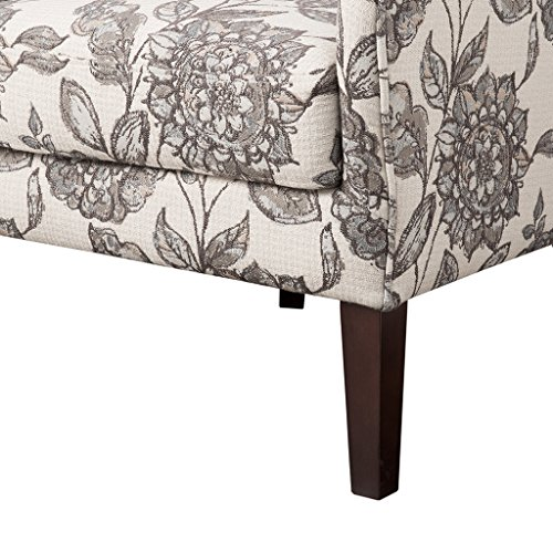 (Madison Park FPF18-0428 Arianna Accent Hardwood, Faux Linen Modern Contemporary Style Living Room Sofa Furniture Swoop Wing Arm Bedroom Chairs Seats, Deep, Floral)