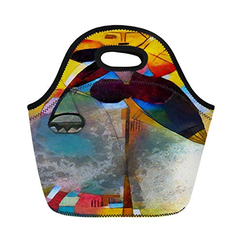 Semtomn Neoprene Lunch Tote Bag Alternative Reproductions of Famous Paintings By Picasso Applied Abstract Reusable Cooler Bags Insulated Thermal Picnic Handbag for Travel,School,Outdoors,Work ()