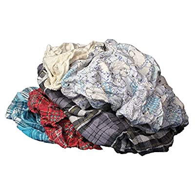 Buffalo Industries (10184) Multicolored Recycled Flannel Cloth Rags - 25 lb. box: Automotive