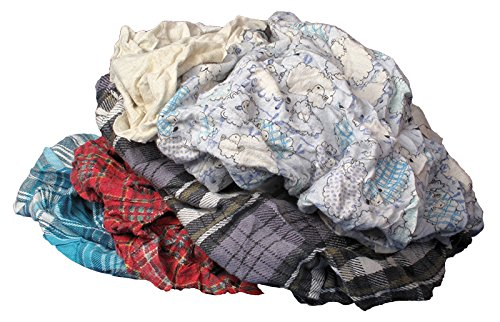 (Buffalo Industries (10184) Multicolored Recycled Flannel Cloth Rags - 25 lb. box)