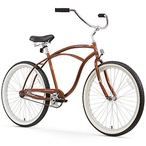 Pantera Beach Cruiser - Firmstrong Urban Man Single Speed Beach Cruiser Bicycle, 26-Inch, Gloss Brown