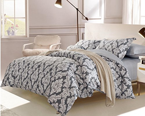 Swanson Beddings Medallion 3-Piece 100% Cotton Bedding Set: Duvet Cover and Two Pillow Shams ()