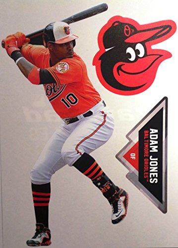 Adam Jones Mini FATHEAD Baltimore Orioles Logo Official MLB Vinyl Wall Graphics 7
