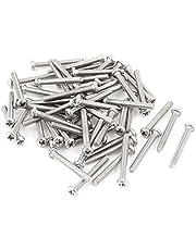 Quata 60 x zilveren klei M2,5 * 20 mm 304 roestvrij staal ronde kop schroeven bouten