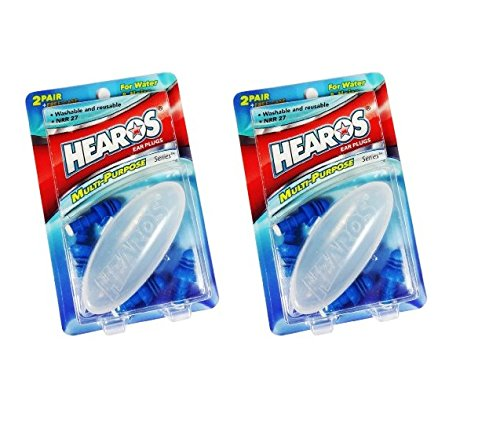 Hearos Multi-Purpose Reusable Silicone Ear Plugs Includes Fr