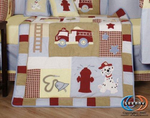 Fire Truck Crib Bedding : Geenny boutique piece crib bedding set baby boy