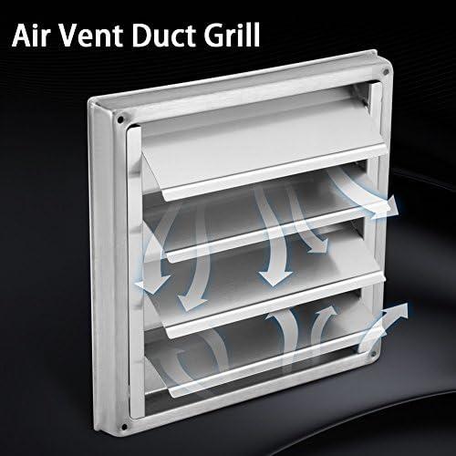 Rejilla del conducto de ventilaci/ón salida de ventilador del extractor del secador de la ca/ída del cuadrado de la ventilaci/ón del aire de la pared del acero inoxidable de 100m m