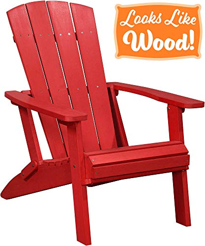 red adirondack chair resin - 8