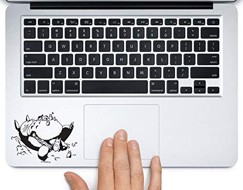 (Totoro Napping on Grass Printed Trackpad Clear Vinyl Decal Sticker Compatible with Apple MacBook Pro Air 11