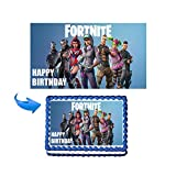 GEORLD Edible Fortnite Battle Royale Image Cake Topper Decoration Birthday Party,NO NAME Printed,7.5x10''