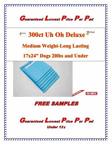 - 300 ct-2xers Deluxe Uh Oh Puppy Training Pee House Breaking Extra Absorbent Inc300ntinence Underpads (17x24