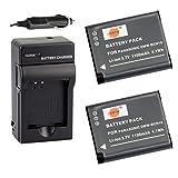 DSTE® 2x DMW-BCN10 Battery + DC146 Travel and Car Charger Adapter for Panasonic Lumix DMC-LF1 LF1K LF1W Camera as DMW-BCN10E