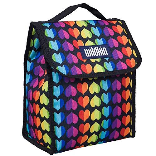 Wildkin Lunch Bag, Rainbow Hearts (Heart Lunch)