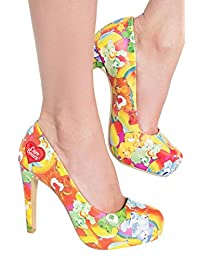 Iron Fist Womens Lots A Rainbow Care Bear High Heeled Shoes