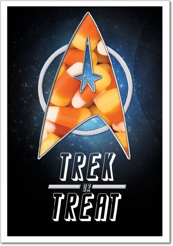 3045 Star Trek or Treat Unique Humor Halloween Greeting Card with Envelope