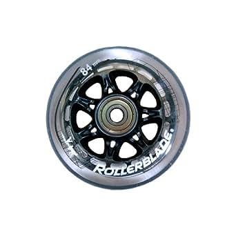 Rollerblade RB - Juego de ruedas para patines (84 mm/84A, cojinetes SG7 y separadores de aluminio), color blanco