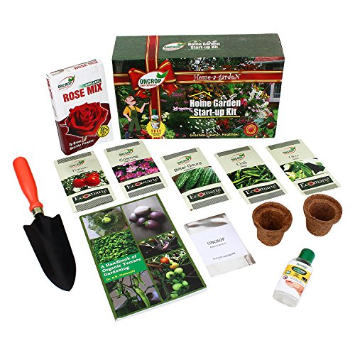 Organic Home Garden Starter Kit box by Oncrop Agro Sciences and Kraft Seeds