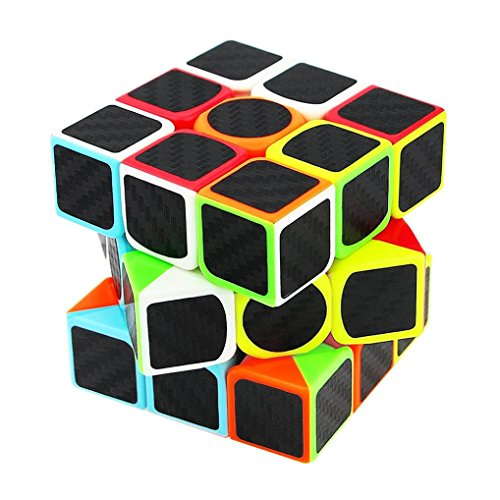 MChoice 3x3x3 Speed Cube Carbon Fiber Sticker For Smooth Magic Cube Puzzles
