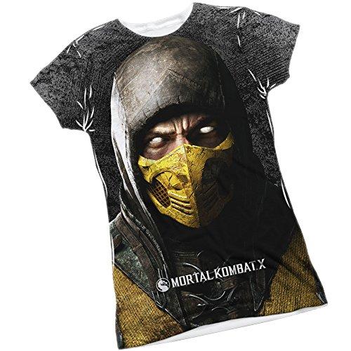 Scorpion -- Mortal Kombat X Front/Back Sports Fabric Juniors T-Shirt, Medium
