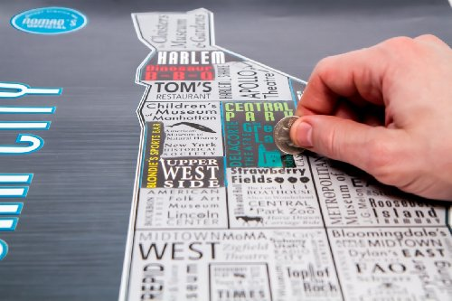Nomad's Official Bucket Scratch-Off Map Of New York City - Platinum Version (Map Nyc)