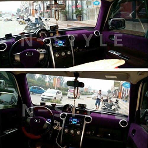 アルカンターラスエード調カッティングシート135cm×1m単パープル 紫 内装用
