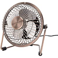 Mini USB Desk Fan, Dreamiracle Small Quiet Metal Desktop Table Personal Fan with 3.9 Feet USB Cable, Great for Office Room