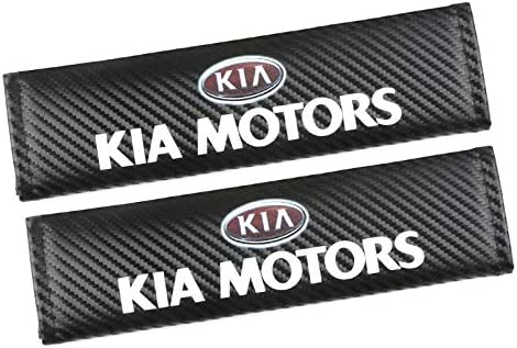Speed Demons KIA MOTORS Carbon Fibre Effect Seat Belt Shoulder Pads