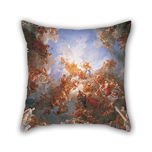 Cushion Covers Of Oil Painting François Lemoyne - L'Apothéose D'Hercule,for Shop,girls,dining Room,indoor,office,festival 16 X 16 Inches / 40 By 40 Cm(two ()