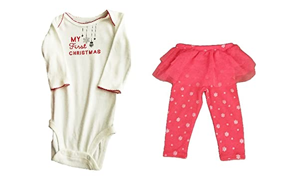 14c55675f Image Unavailable. Image not available for. Color: Carter's Baby Girl My  First Christmas Bodysuit ...