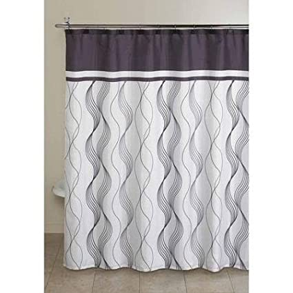 Mainstays Shower Curtain With Decorative Hooks