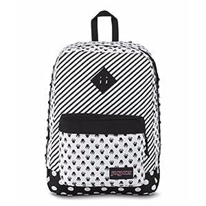 JanSport Unisex Disney Super FX Minnie White Bow Dot Backpack