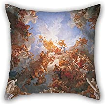 Throw Pillow Covers Of Oil Painting Fran?ois Lemoyne - L'Apoth??ose D'Hercule 18 X 18 Inches / 45 By 45 Cm Best Fit For Living Room Gf Teens Girls Saloon Kitchen Pub Twice Sides