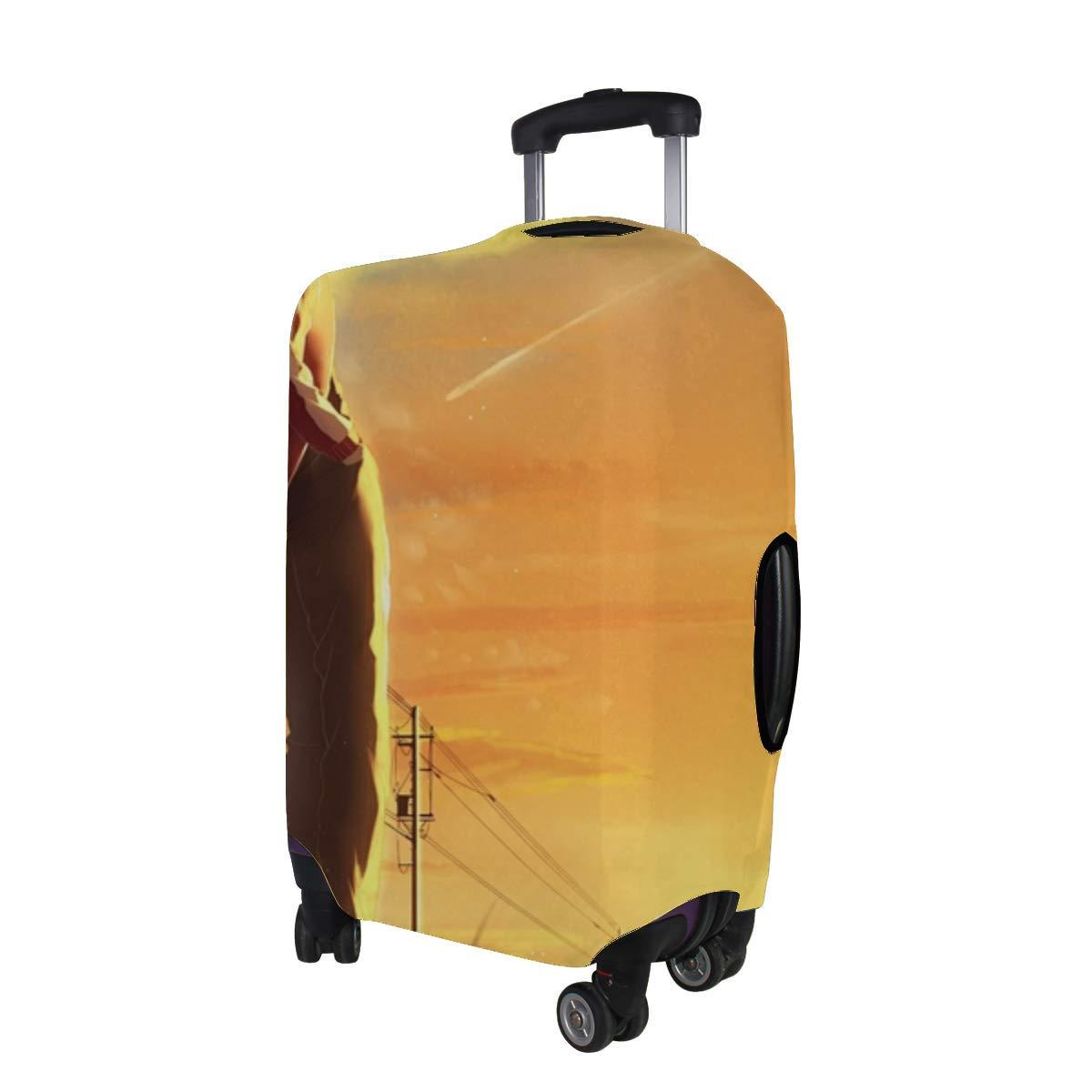 Maxm Kagerou Project Kisaragi Shintaro Tateyama Ayano Pattern Print Travel Luggage Protector Baggage Suitcase Cover Fits 18-21 Inch Luggage