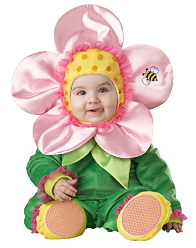 InCharacter Infant Flower Costume, Green/Pink/Yellow, 6-12 Months