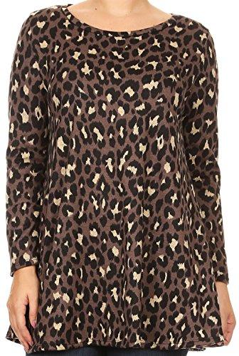 cheetah print tunic dress - 5