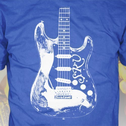 (Stevie Ray Vaughan T-Shirt - SRV Stratocaster Guitar tshirt, blues music shirt, rock and roll tee, classic, vintage, S.R.V., 80s, 90s, retro soul)