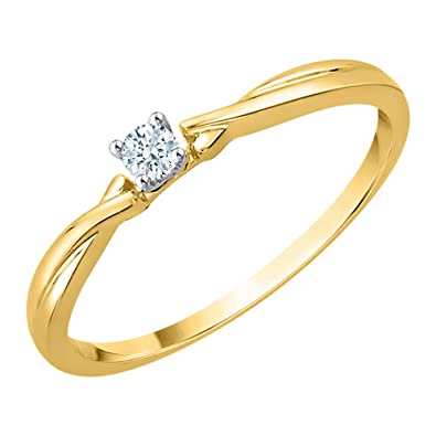 Buy Katarina 10kt Gold And Diamond Ring For Women At Amazon In