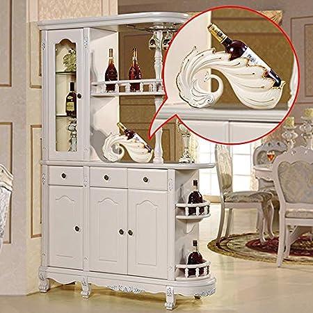 DC Wesley Estantería European Creative Wine Rack Wine Rack Salón Vinoteca Decoración Pavo Real Accesorios for El Hogar