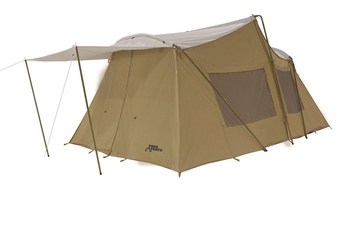 Amazon.com : Trek Tents 247 3 Room Cotton Canvas Cabin Tent, 10 X 16 Feet,  Beige : Sports U0026 Outdoors