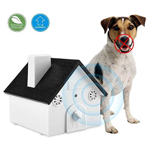 Smarlance Ultrasonic Outdoor Dog Bark Controller Anti-Barking Device Sonic Bark Deterrents Training Tool, Safe for Dogs, Pets and Human, Birdhouse Shape up to 50 Feet Range, Hanging or Mounting (Bark Stop Dog Ultrasonic)