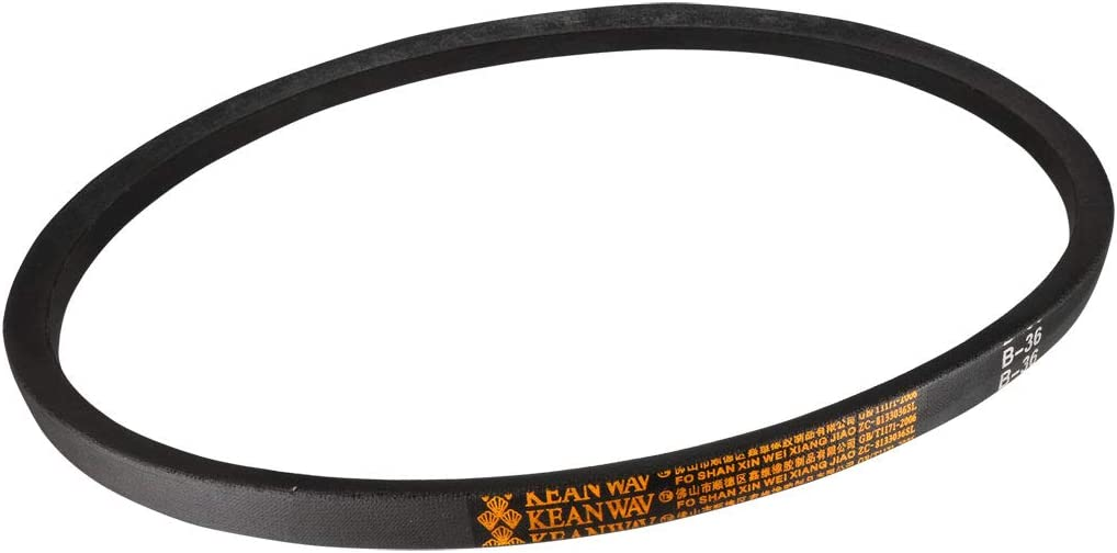 uxcell AX36 Drive V-Belt 36 Inches Length Industrial Power Rubber Transmission Belt