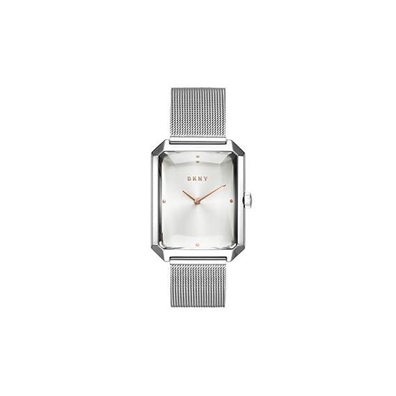 DKNY NY2708 - Reloj de Pulsera para Mujer, Acero Inoxidable, Color Plateado