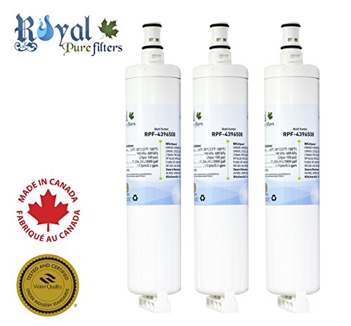 Whirlpool 4396508 Compatible Refrigerator Water Filter RPF-4396508 by Royal Pure Filters (Pack of 3)