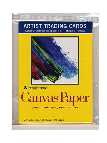 Strathmore Artist Trading Cards 300 Series Canvas Paper pack of 10 [PACK OF 6 ] by Strathmore