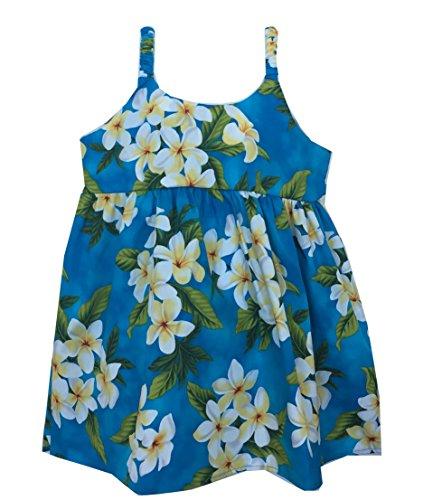 Company Girl's Plumeria Season Cruise Luau Hawaiian Bungee Dress (10, Turquoise) (Luau Hawaiian Dresses)