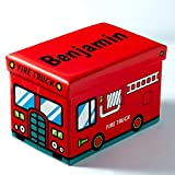Dibsies Collapsible Junior Toy Box (Fire Truck)
