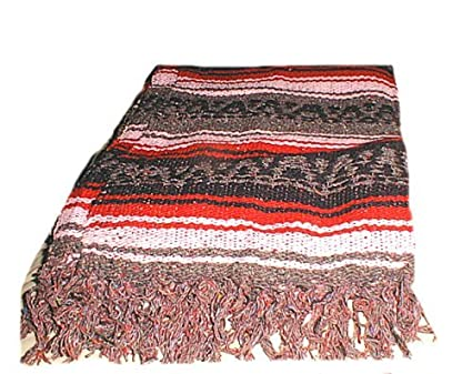 Amazon.com  Large Authentic Handmade Mexican Falsa Blanket Rugs ... 3b9446236